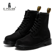 Genuine Cow Nubuck Upper Leather  Boots Unisex Short Booties Trendy Ankle 2018 New Style