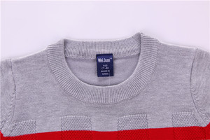 Image 3 - Wei Juan New Big Boys Spring Autumn Winter Juniors Full Cotton Striped Pullover Thick  Knitted 7 11yrs Casual Quality Sweaters