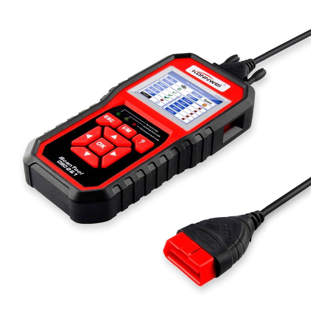 HTB10RCEChSYBuNjSsphq6zGvVXaK OBD2 ODB2 Scanner Auto Diagnostic Scanner KONNWEI KW850 Full Function Car Diagnosis Car Scanner Universal OBD Engine Code Reader