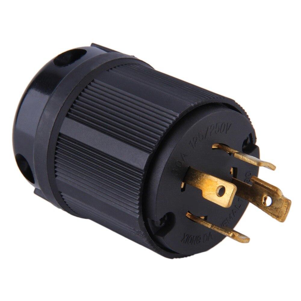 Outdoor Power Locking NEMA L14-30P Twist-Lock Plug 30A 125-250V 4P 4W US UP Surp