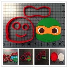 Custom Made 3D Printed Cartoon TV Character Happy Teenage Mutant Ninja Turtle Cookie Cutters