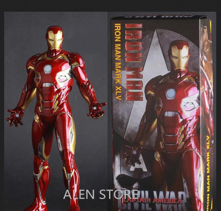 ALEN 12 30CM Crazy Toys The Avengers Captain America Civil War Iron Man Mark XLV MK 45 PVC Action Figure Collectible Model Toy captain america civil war iron man 618 q version 10cm nendoroid pvc action figures model collectible toys