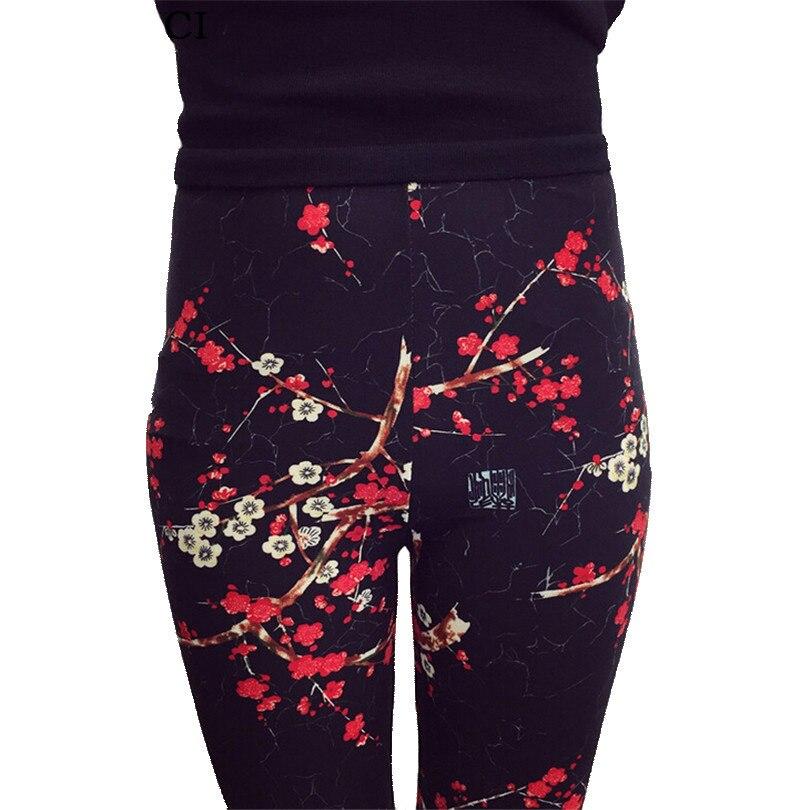 YRRETY Women Printed   Legging   Floral Print   Leggings   National Ethnic Landscape Paintings Flowers Leggins Trousers High Elasticity