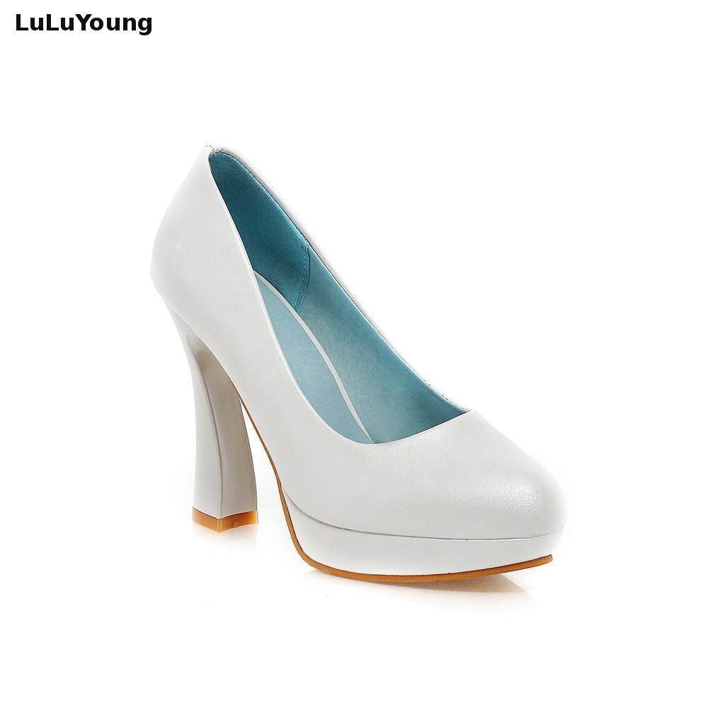 rosado Tacón Manera La Alto Boda De blanco Zapatos Mujeres Verano Las Rosa Azul Azul Nueva Blanco 65Hnxqg