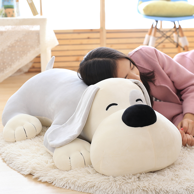 big new creative lying plush dog toy soft dog pillow gift about 80cm