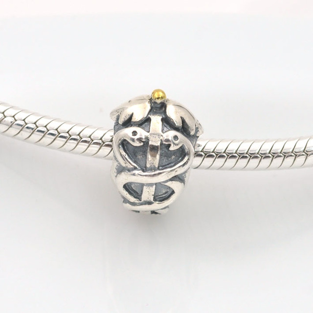 medical snake fit pandora charms bracelet authentic 925
