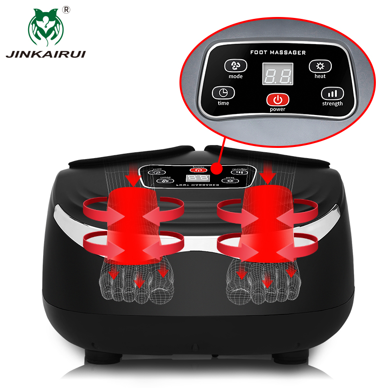 Jinkairui Kneading Air Compression Electric Foot Massage Machine For Health Care Infrared With Heating and Therapy Antistress