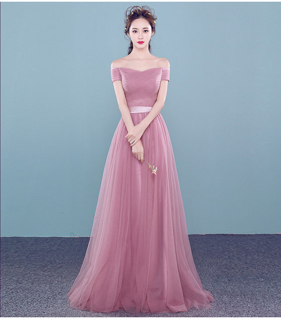 Online Shop 2016 New Dusty Pink Cheap Bridesmaid Dresses Long Off ...