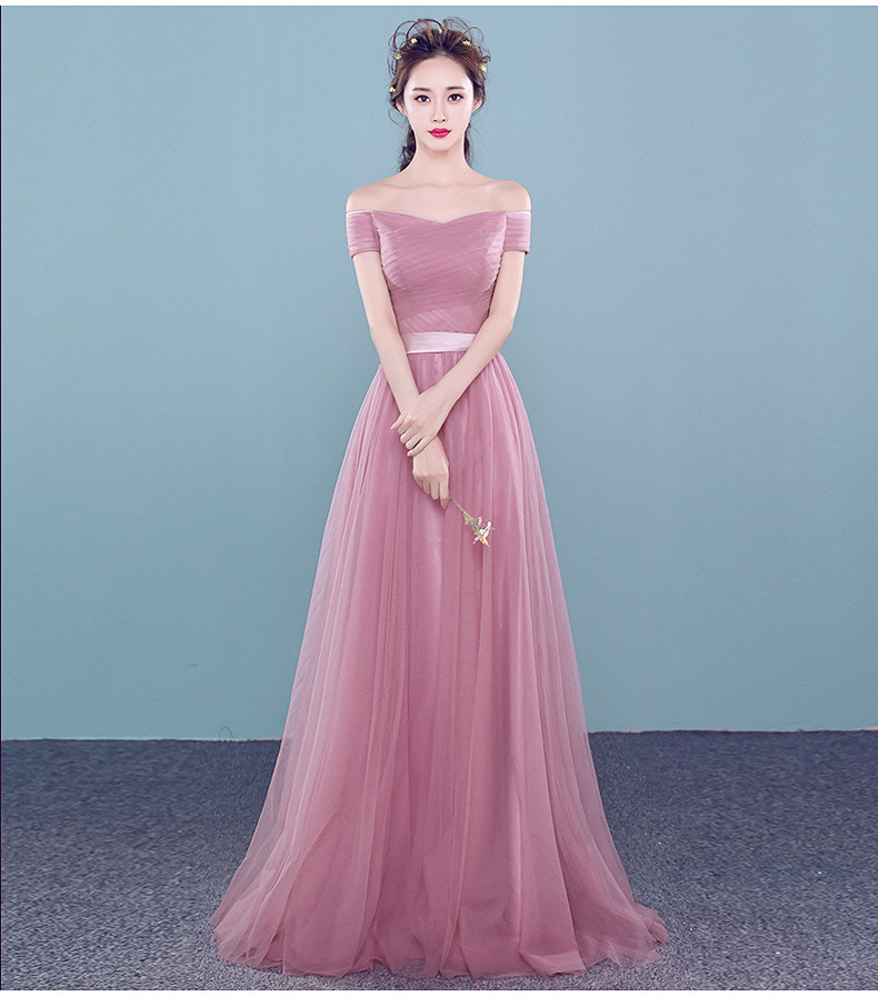 2016 Nueva Polvoriento Rosa Baratos Vestidos de dama de Honor Largo ...