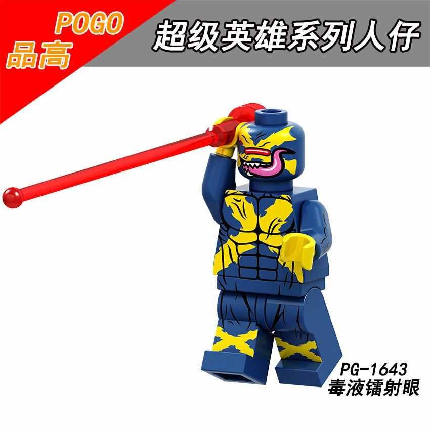 Marvel Super Heroes Figures Venom Dr. Doom Ghost Rider Colossus Wolverine Cyclops Pop Building Blocks Kids Toys PG8187