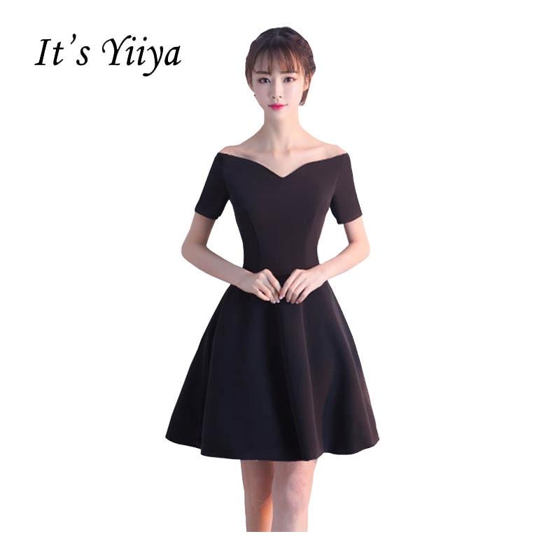 Its Yiiya New Black Off Shoulder Sweetheart Cocktail Little Black