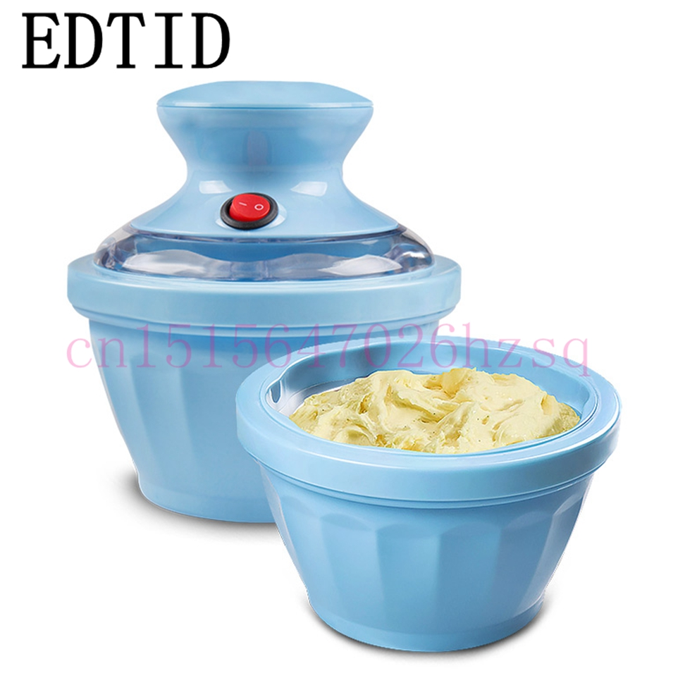 EDTID ice cream machine safe healthy and easy operation DIY snack-food-machinery fashion appearance One button Operation square pan rolled fried ice cream making machine snack machinery