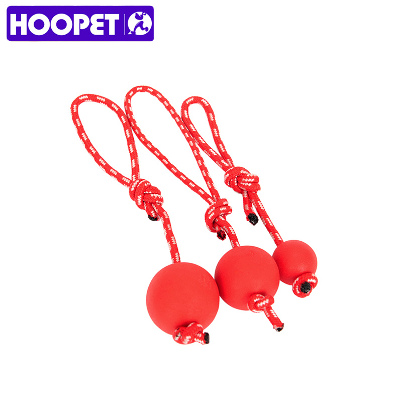 HOOPET Dog Toy With Rope Resistant Biting Rubber Ball Three size Play Product