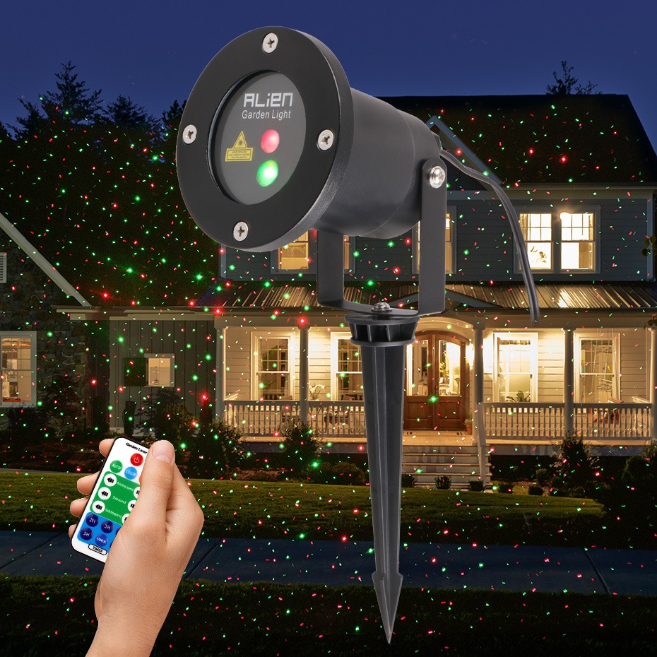 Trustful Alien Rgb 32 Patterns Christmas Laser Projector Outdoor Light Remote Garden Waterproof Ip65 Holiday Xmas Outside Shower Lighting Commercial Lighting