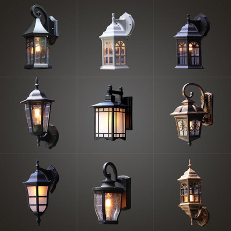 Outdoor wall lamp waterproof European retro loft industrial wind balcony Nordic exterior wall light garden light