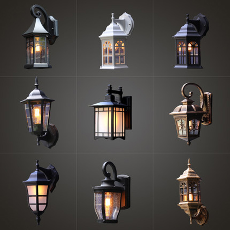 Outdoor Wall Lamp Waterproof European Retro Loft Industrial Wind Balcony Nordic Exterior Wall Light Garden Light