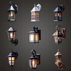 Wall-Lamp Garden-Light Retro-Loft Balcony Nordic Exterior Industrial-Wind Outdoor Waterproof