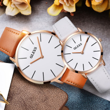 Couples watch women men leather strap watch lovers fashion leisure ladies quartz waterproof luxury brand valentine's day gift