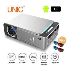 T6 светодиодный проектор HD 3500 люмен портативный HDMI USB поддержка 4 K 1080 p домашний кинотеатр проектор фильмов Beamer с загадочным подарком