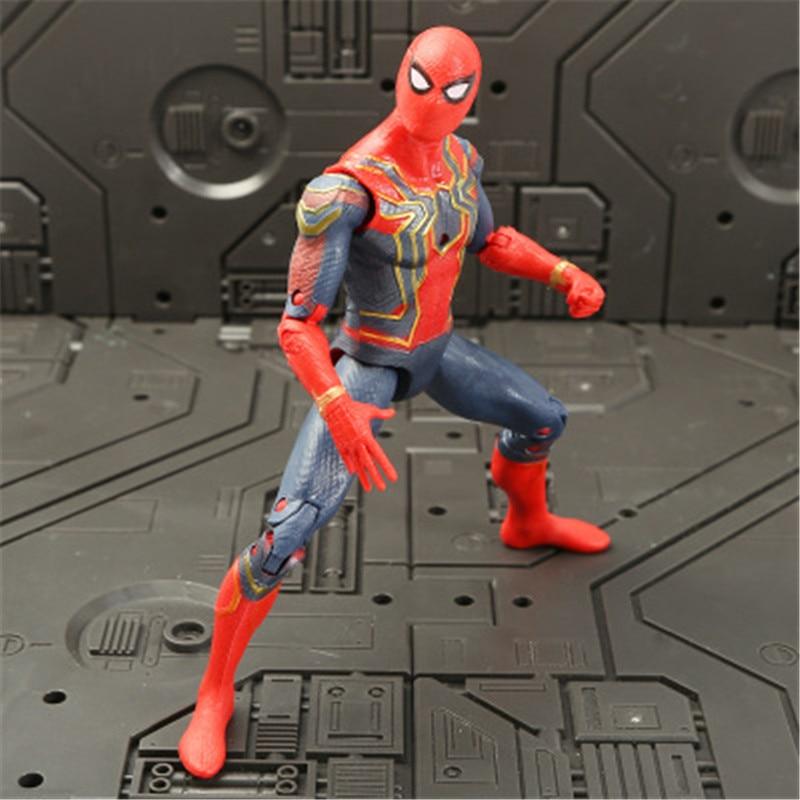 Marvel Мстители 3 Бесконечность войны фильм Аниме Супер Герои Капитан Америка, железный человек, Халк Тор супергерой Фигурки игрушки - Цвет: spiderman