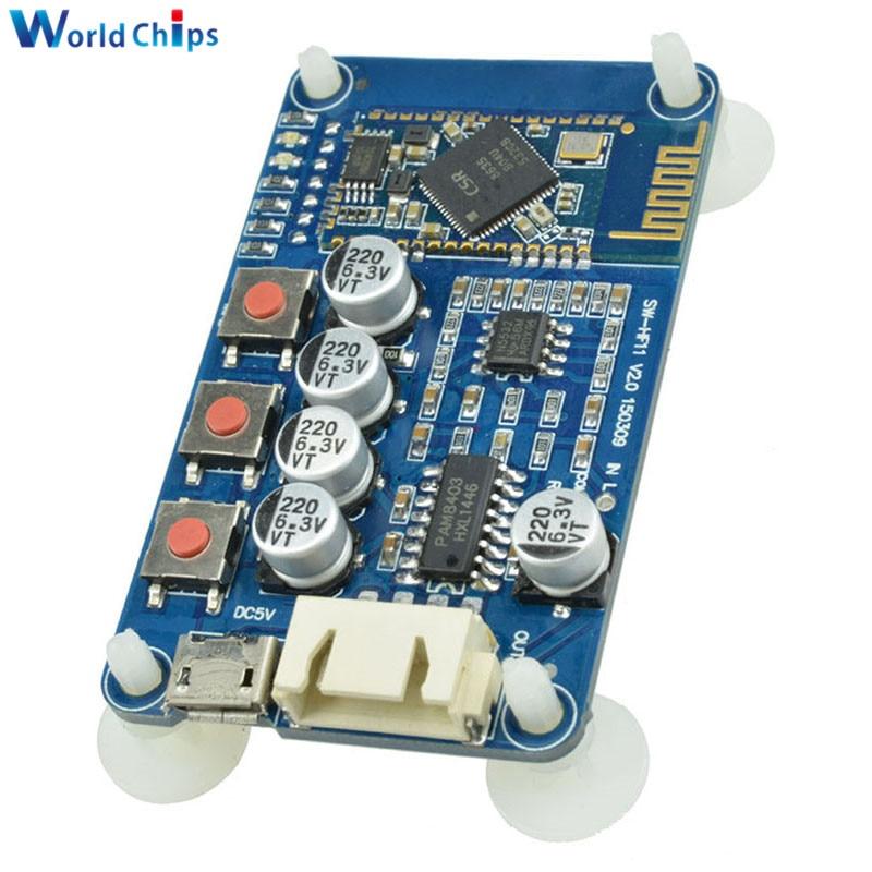 DC 5v wireless digital mini bluetooth amplifier module audio receiver board JG