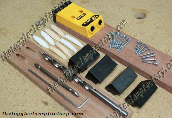 Kit guide assemblage bois et percage Pocket Hole Joinery Jig - ChinaSouthCity store