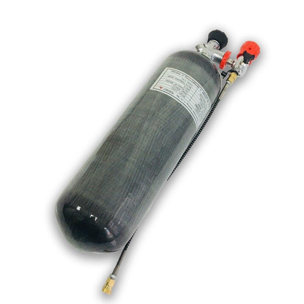 AC168301 6.8L Cylinder Pcp Valve 4500Psi 300Bar Paintball Tank Pcp Rifle High Pressure Cylinder Compressed Underwater Air Gun