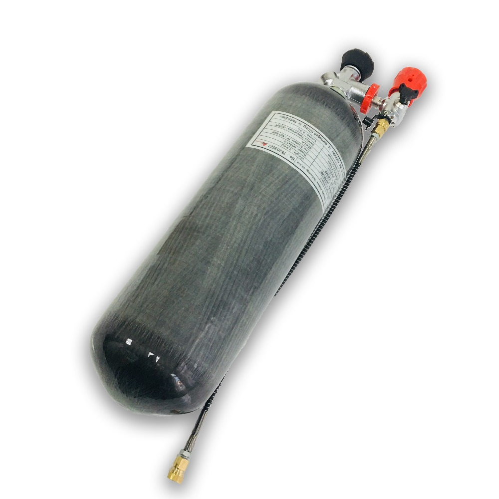 AC168301 Cylinder 300Bar 6.8L Pcp Rifle 4500Psi  Compressed Air Gun Paintball Tank Security & Protection High Pressure Cylinders