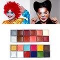 Venta caliente Cuerpo Crema de Pintura de La Cara de Halloween Para Niños de Graffiti Pintado Pintura Corporal Maquillaje Pigmento Pintura al óleo Impermeable Kit de Arte