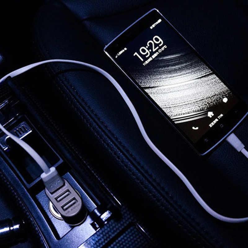 Portable 3-Port USB Car Charger Random Color Dropshipping 12V/24V 2.1A & 1A Quick Charging Triple Ports Auto Charger Adapter