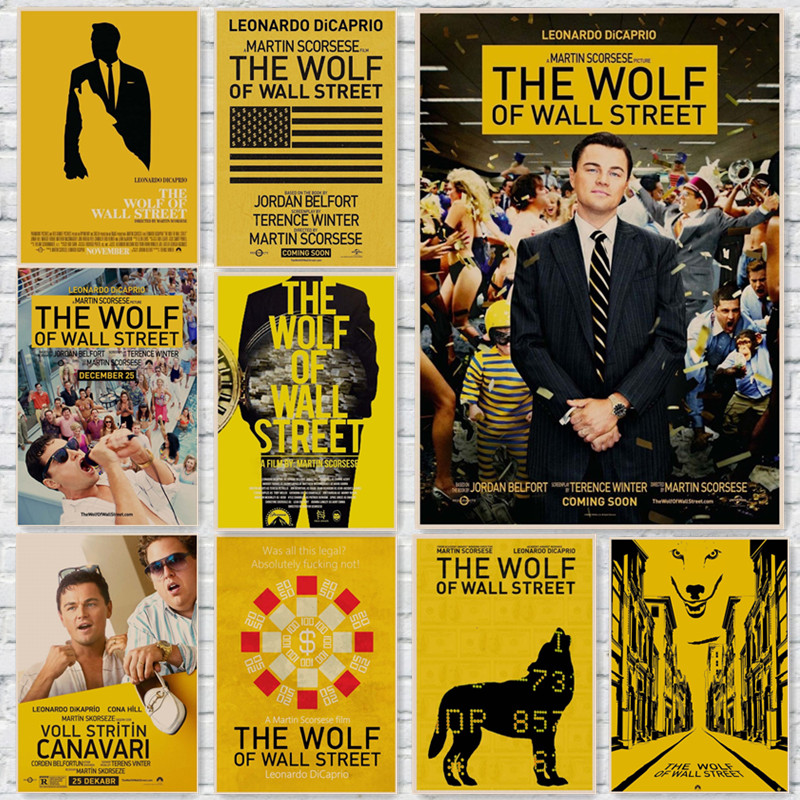 The Wolf of Wall Street Vintage Posters Wall Home Decoration Kraft ...