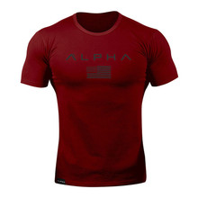 Men Camouflage Sport Training Cotton T-shirt Short Sleeve Running Top