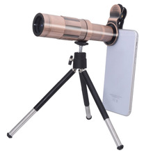 Big discount Lightweight 20x Zoom Optical Mobile Phone Lens Telescope Camera Telephoto Lens For Smartphone with Mini Tripod