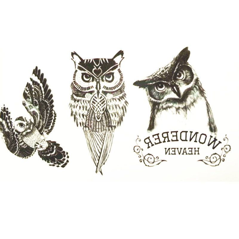 Compare prices on owl tattoos online shopping buy low for Price of small tattoo