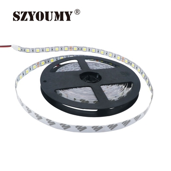 SZYOUMY DC24V Non-Waterproof LED Strip 5050 Fiexible Light 60Led/m White,Warm white,Red,Green,Blue,Yellow,RGB,Free ship