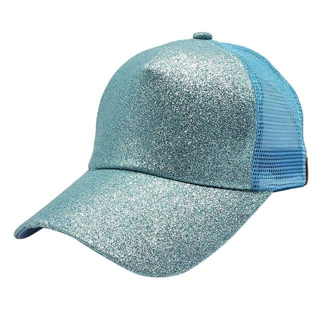 CC Glitter Ponytail Baseball Cap 2018 Women Adjustable Snapback Caps Summer  Messy Bun Mesh Hat Girls Casual Sport Hats Gorras 4d7951faa0e0