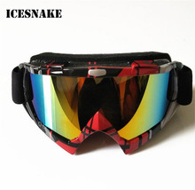 ICESNAKE Motocross Off-Road Dirt Bike Glasses Motorcycle Enduro DH ATV Eyewear Windproof Snowboard Ski Goggles