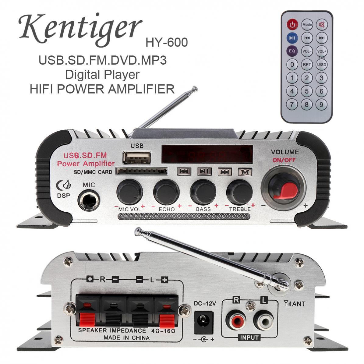 2CH HI-FI Car Audio Power Amplifier FM Radio USB MP3 Stereo Digital Player Suppo