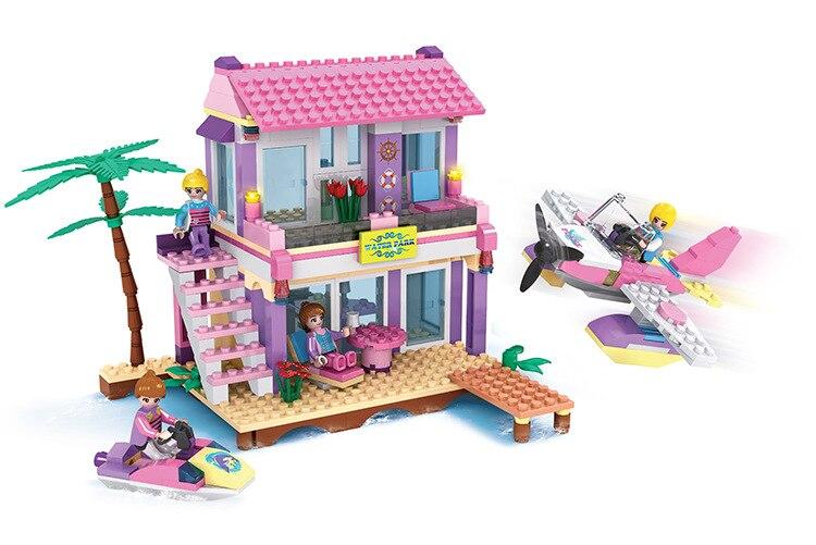 buy cogo girl series 14515 beach villa 423 pcs building block sets for girls. Black Bedroom Furniture Sets. Home Design Ideas