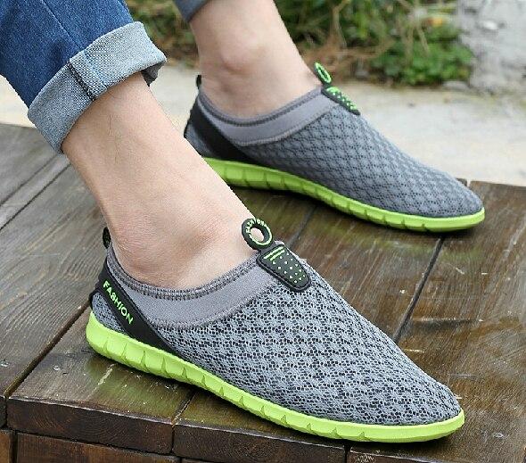 2014 net fabric breathable unslip men flat sneaker summer beach running  shoes female travel jogging shoes 94ca1c765