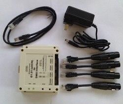Compatible for ChamSys MagicQ, E1.31 (sACN) to DMX Interface / Bridge, 4 DMX512 Universes output up to 2048 DMX channels.