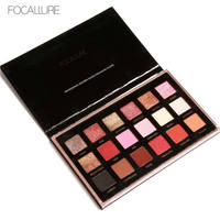 18 Colors FOCALLURE Palette Shimmer Matte Pigment Eye Shadow Cosmetics Mineral Nude Glitter Eye Nude Makeup