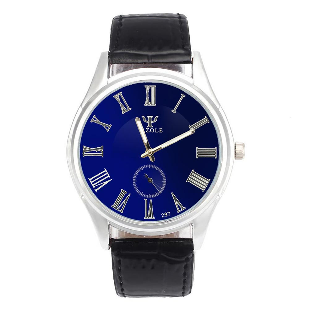 #5001 Leisure High Quality Man Watch Luxury Waterproof Faux Leather Men Blue Ray Glass Quartz Analog Watches classic watch fashion men s luxury quartz watches faux leather blue ray glass hodinky analog brand relogio feminino high quality
