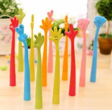 1pcs/Lot  Gesture Silicone Textured Cap Ballpoint Pen Plastic Ball Pens Writting Stationery Office School Supplies