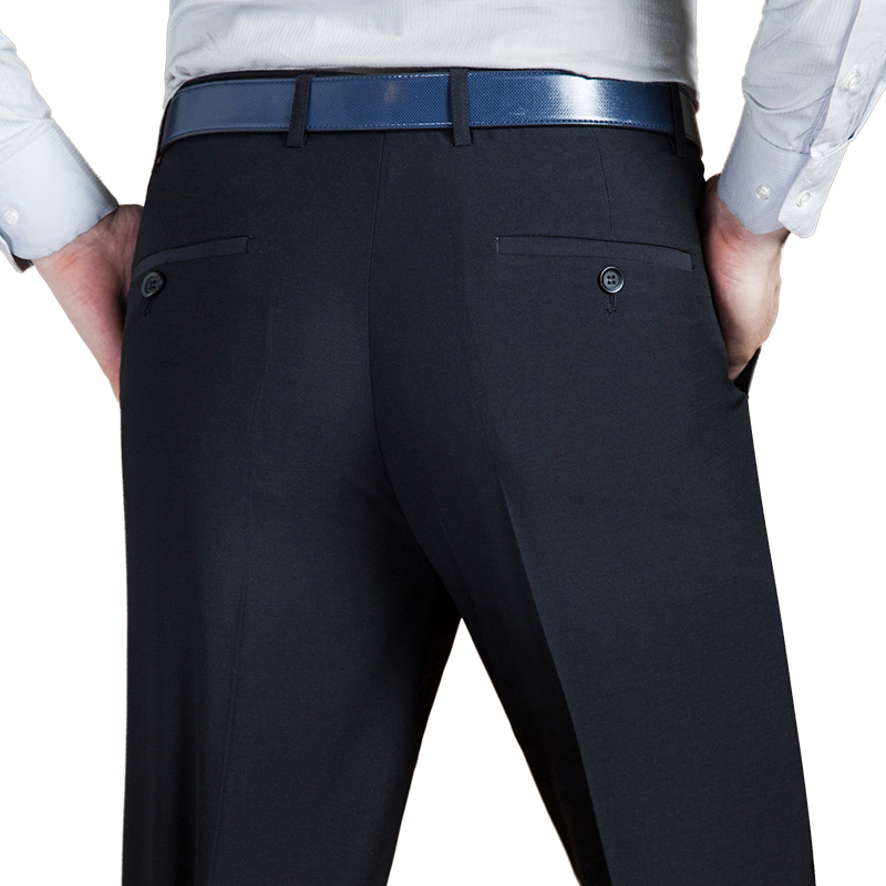 Spring Autumn Business Suit Pants Male Casual Classic Black Trousers Men Formal Regular Office Long Fit Pants Dress