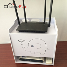 CHOICE FUN 4 layers Home office Router wifi rack organizer Flip Router Storage Box For Router
