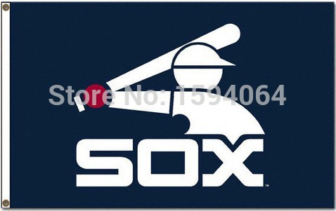 MLB Chicago White Sox Flag 3x5 FT 150X90CM Banner 100D Polyester flag 1055, free shipping