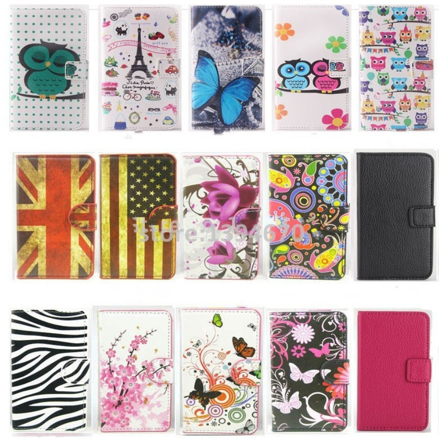 Flower owl Pu Leather Case For Asus ZD552KL With Card Holder Back Stand Cover Phone Cases Bags Retail free shipping