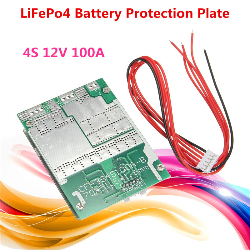 4S 100A 12V Balance For LiFePo4 For LiFe 18650 Battery Cell BMS Protection PCB Board Module mạch sac bao ve pin 100a