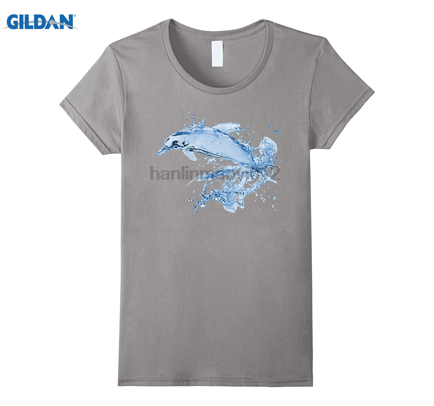 GILDAN Jumping Dolphin Conservation Art Ocean Sea Wildlife Porpoise Hot Womens T-shirt ...